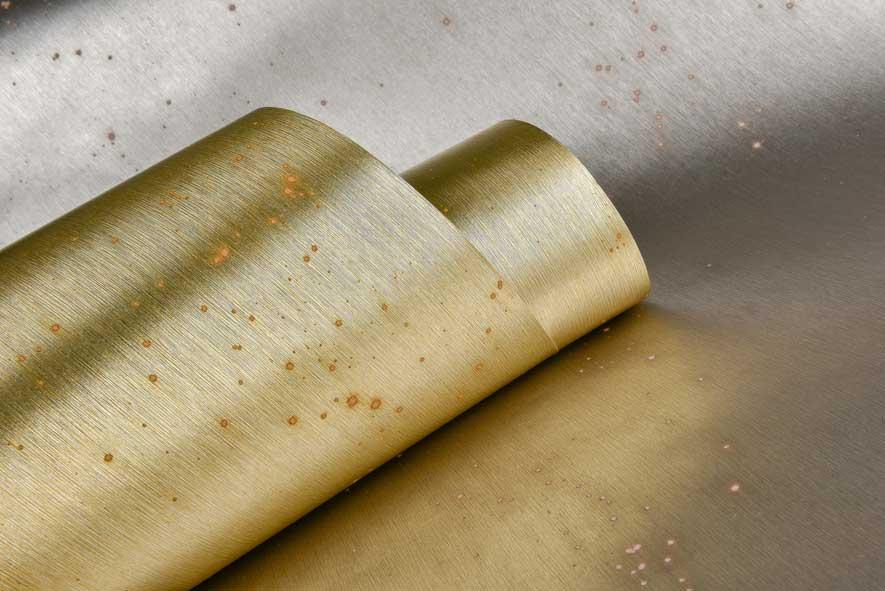 metalltapete kaufen luxus metallltapeten in gold silber u kupfer. Black Bedroom Furniture Sets. Home Design Ideas
